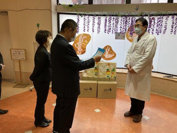 静岡県立こども病院に「えんとつ町のトイレットペーパー」を寄附